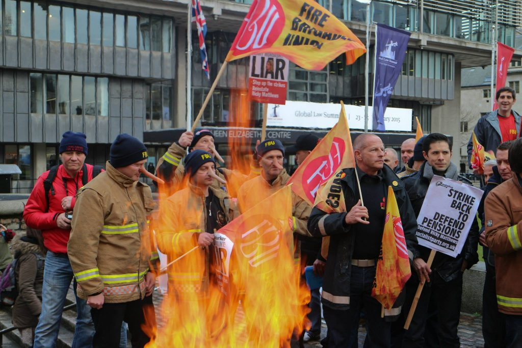 Image result for fbu strike