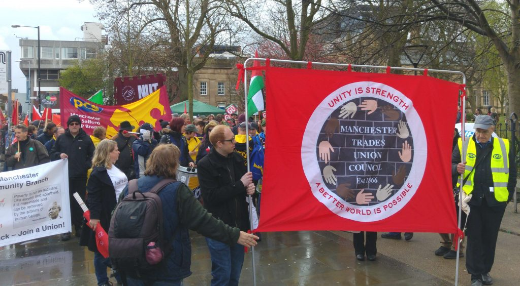 Marchers and banners