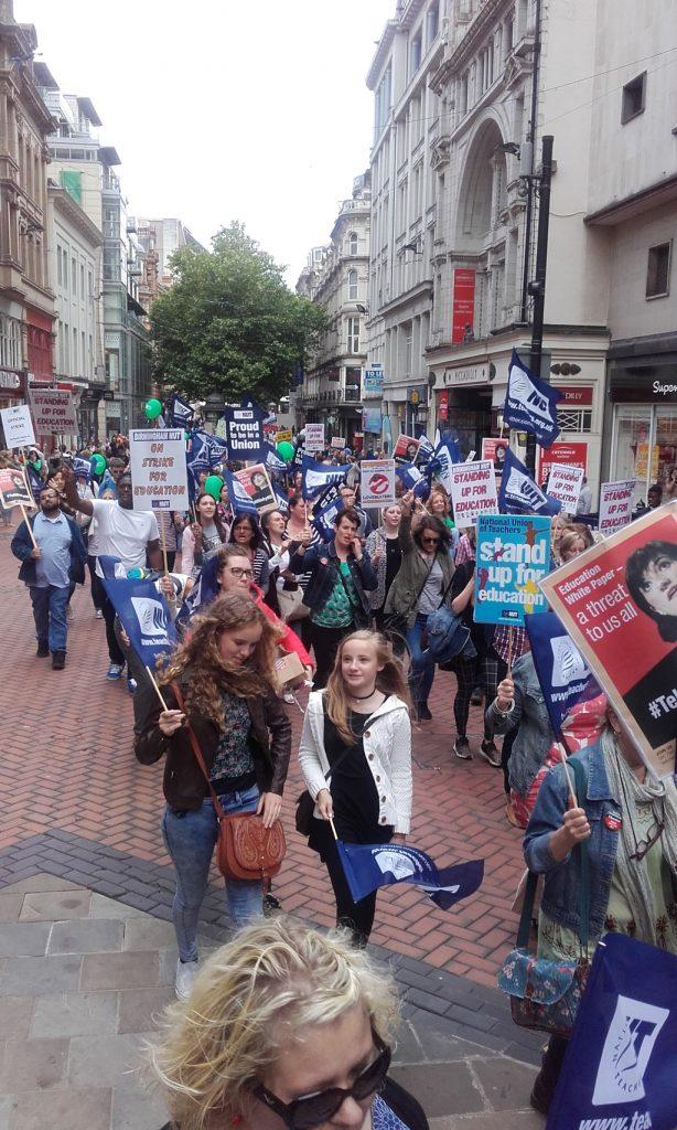 NUT rally in Birmingham
