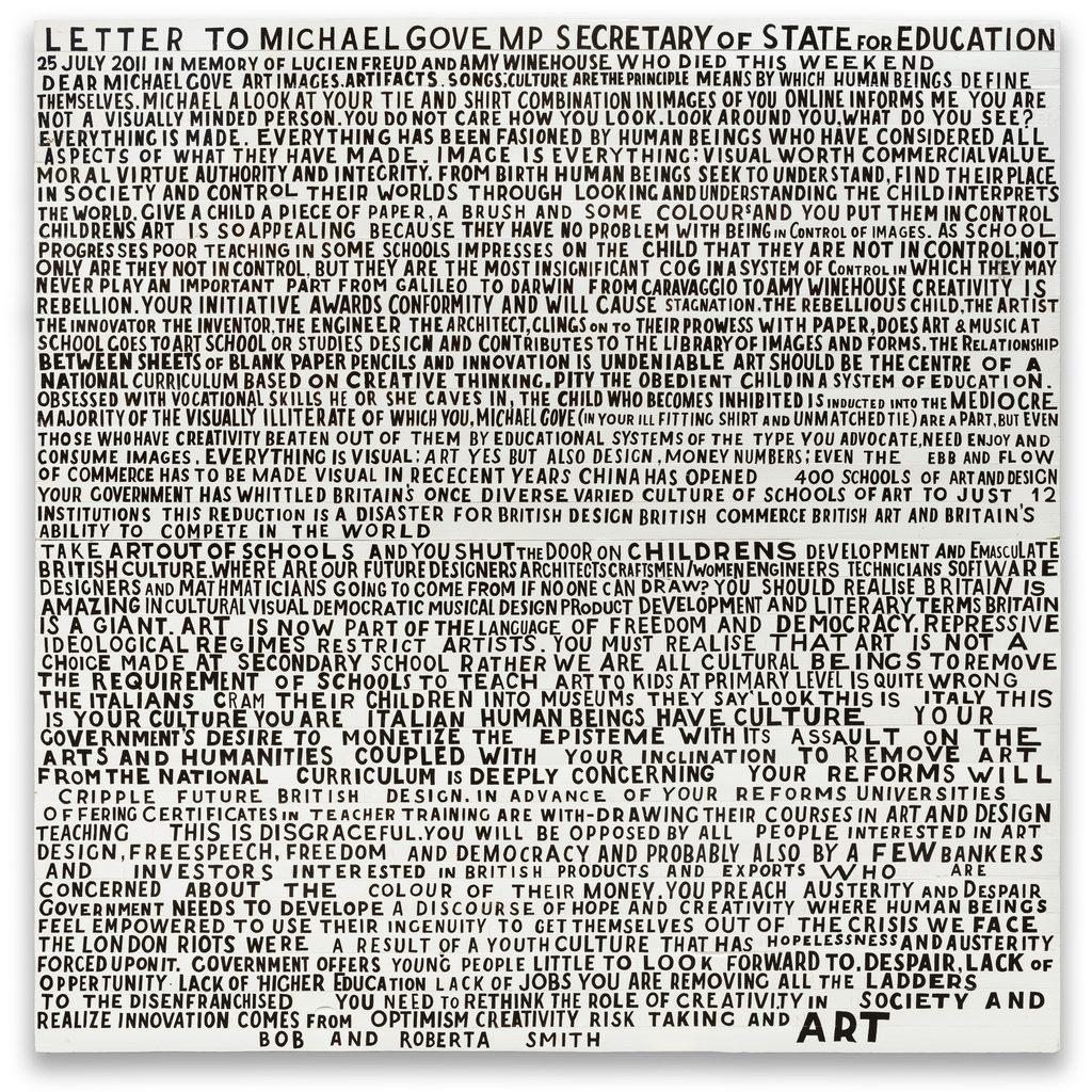 Bob and Roberta Smith at William Morris Gallery