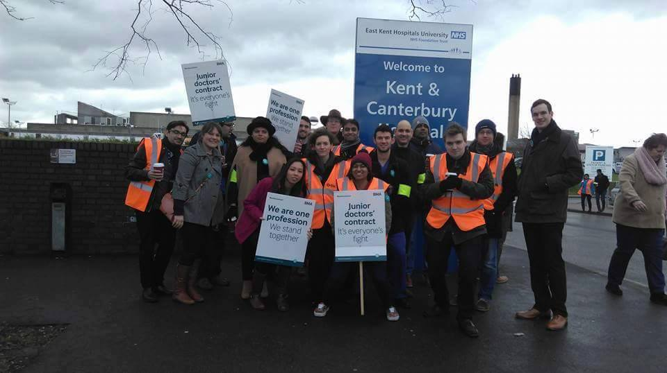 GMB Union supporting the junior doctors. Credit: Margaret Rutherford