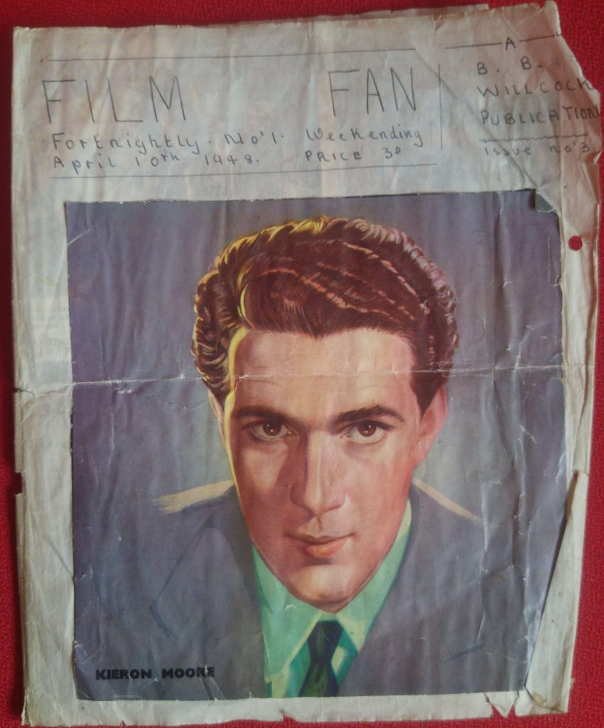 "Front page of hand made ""Film Fan"" magazine"