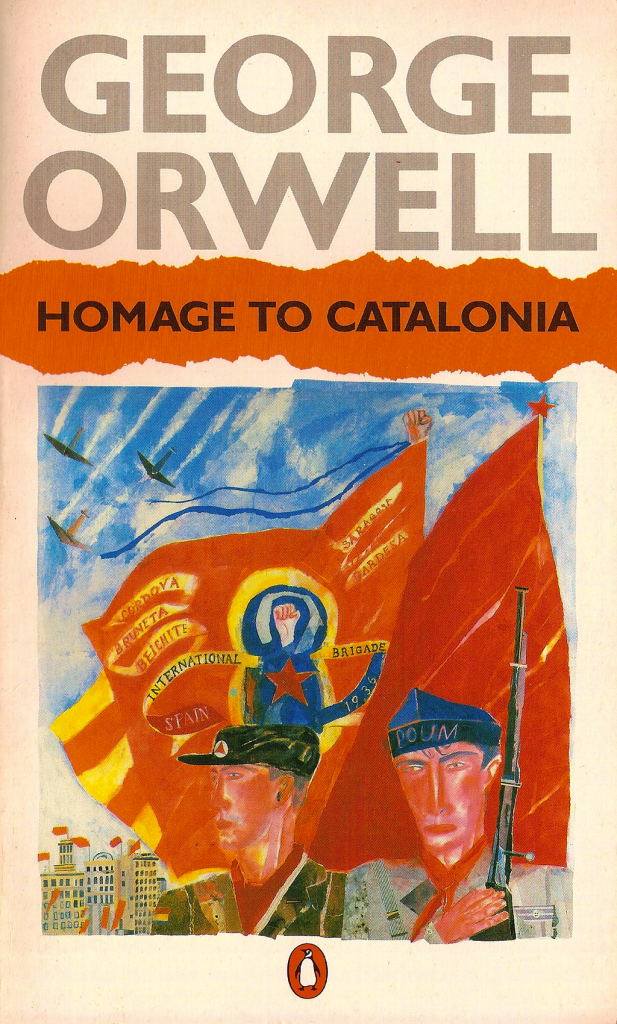 'Homage to Catalonia' (1938) by George Orwell, 1984 Penguin Books reprint. Cover illustration by Christopher Corr. Image: John Keogh