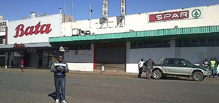Shops closed in Harare during the national shutdown. Image: Garikai Chaunza