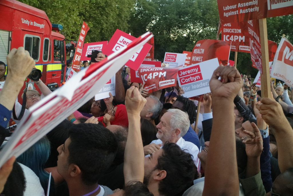Corbyn BAME rally. Photo: Steve Eason
