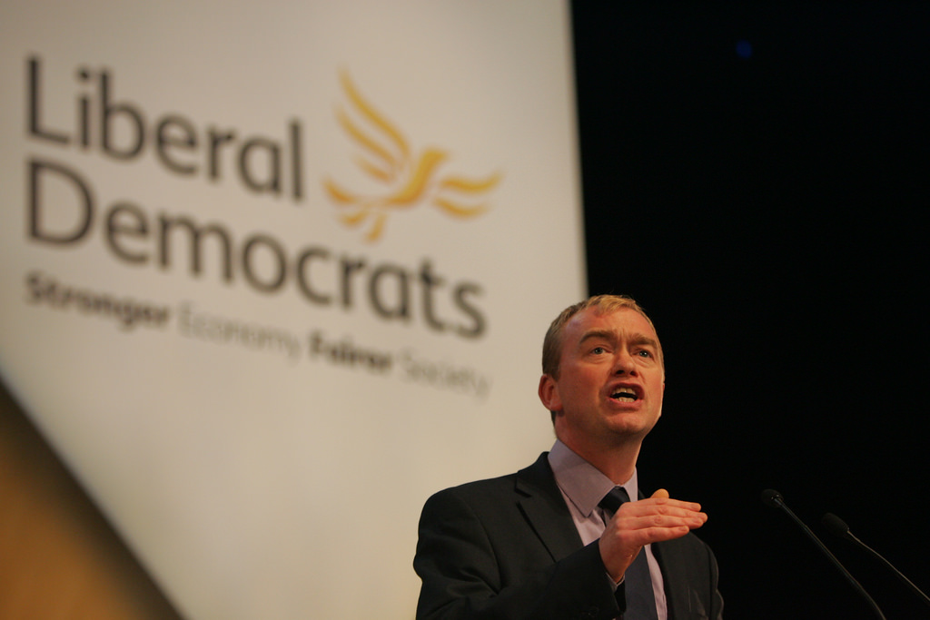 Tim Farron, leader of the Liberal Democrats. Photo by: Dave Radcliffe/flickr