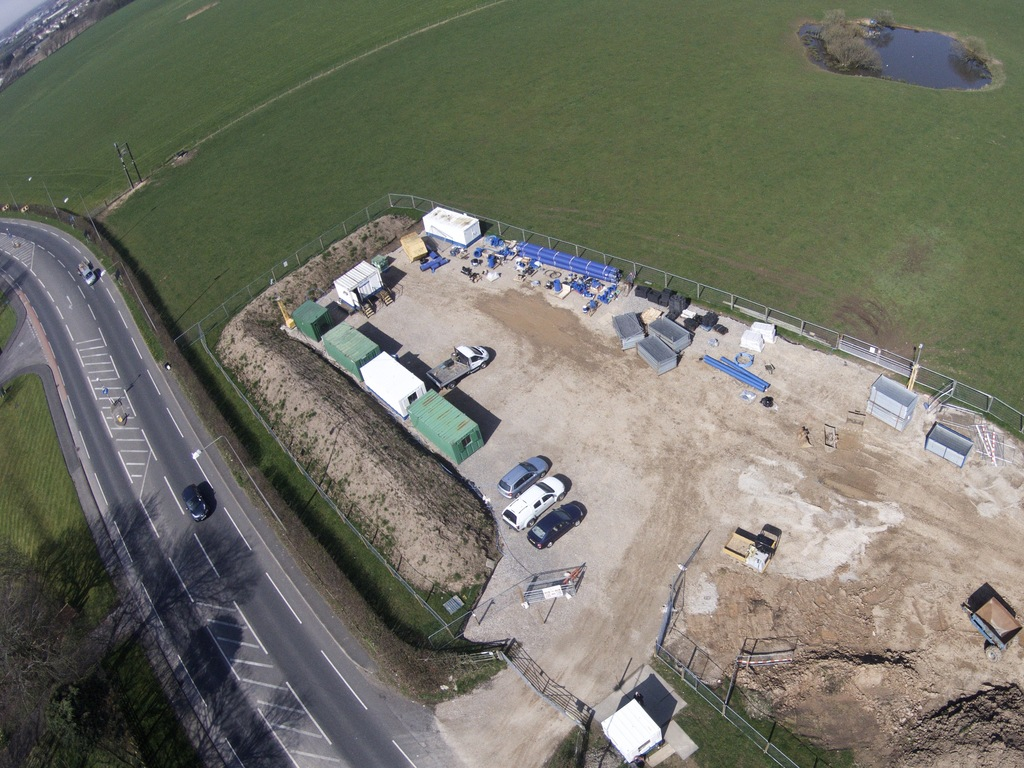 Preston New Road fracking site (Photo via frack-off.org.uk)
